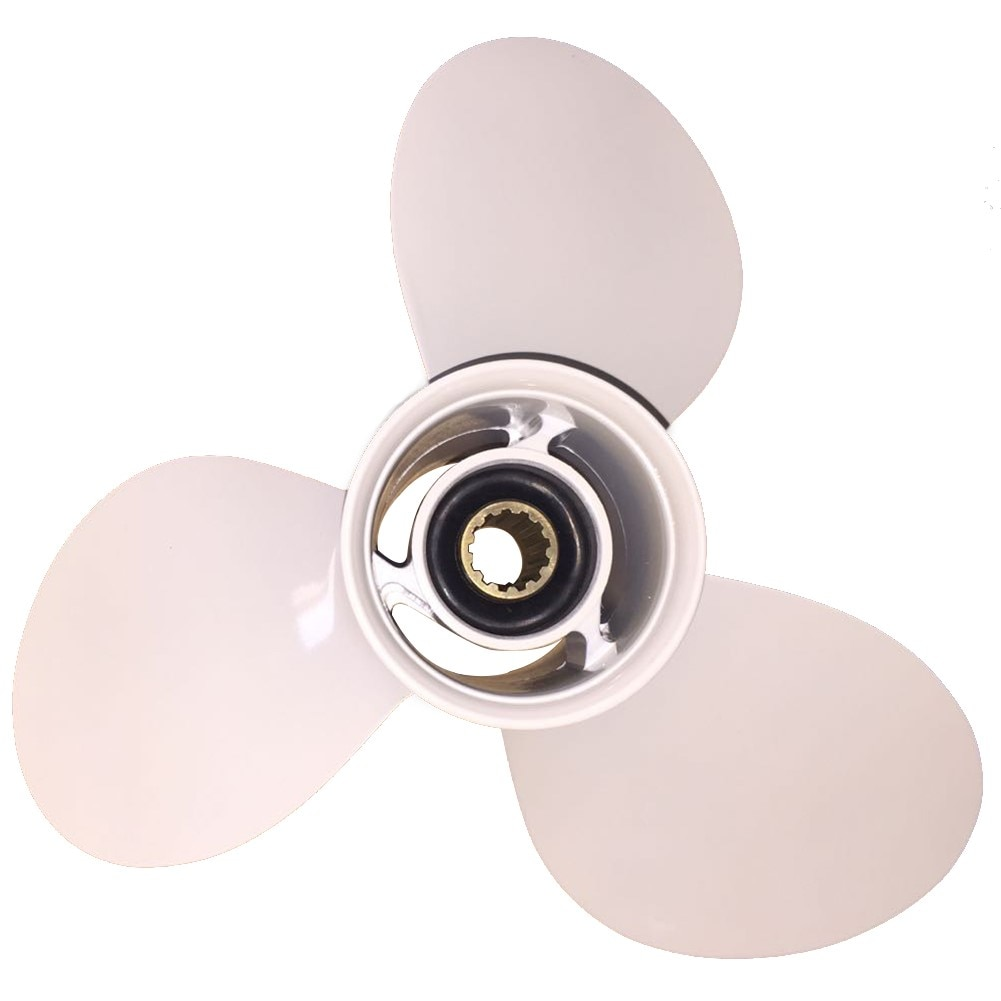Boat Propeller 10 7/8x11 for Yamaha 40HP-55HP 3 Blades Aluminum Prop 13 Tooth RH 10.875x11 enlarge