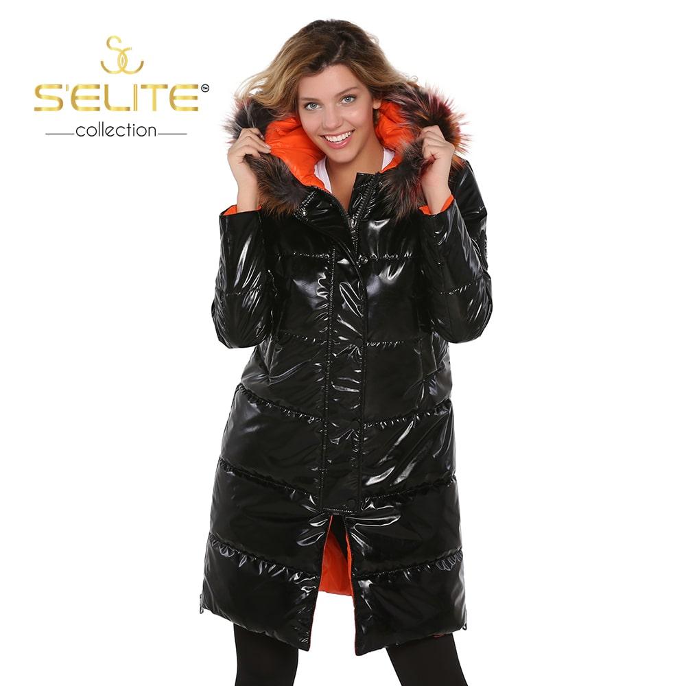 Черно-оранжевое пальто из натурального меха ежика, пальто из натурального меха, одежда из натурального меха, жилет из натурального меха