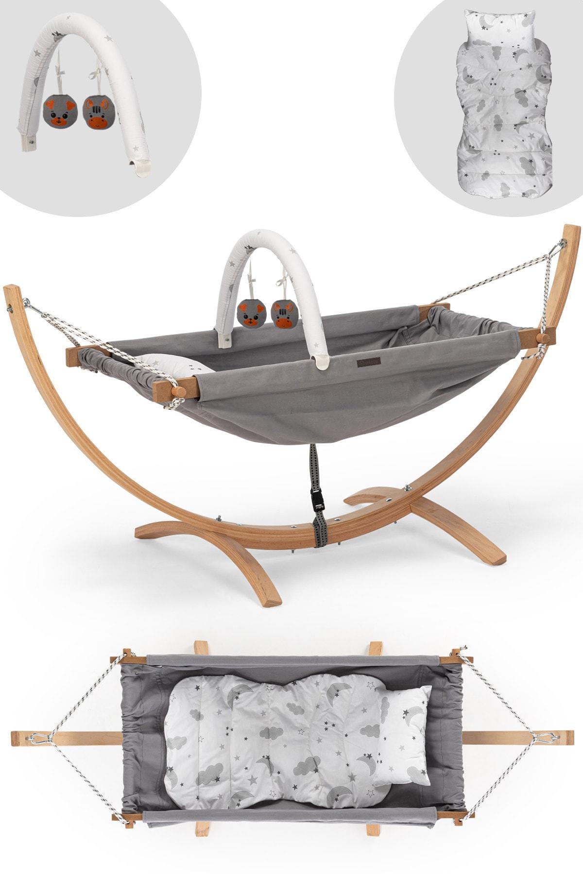 Portable Baby Hammock Crib Furniture Gray Mother Kids Room Bed Safe Cot Swing Elastic Seat Bassinet Brib Free Shipping children swing Cradle Bassinet Bedside Easy Folding Dreamer Bedside Sleeper Convertible Mini