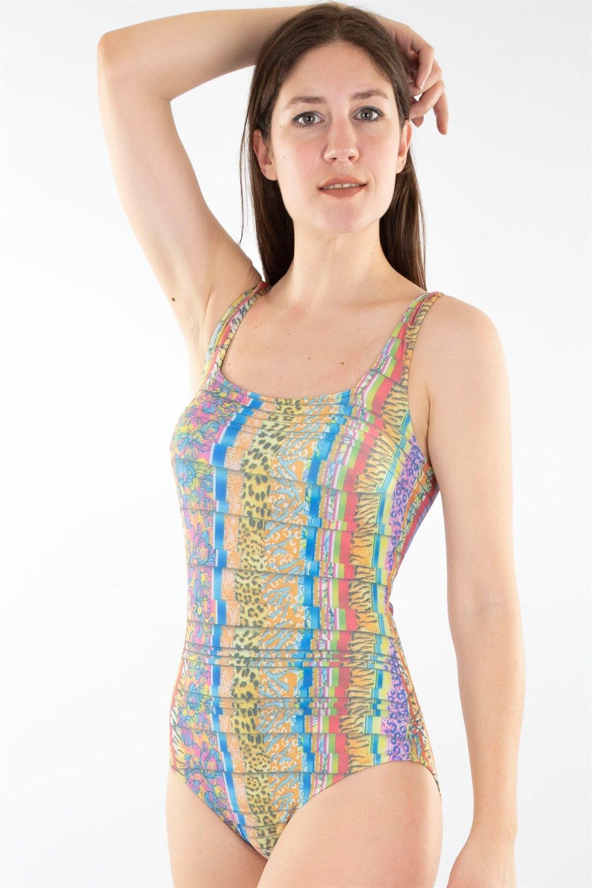 Fashion Cartoon Multi-Color Swimwear 25365