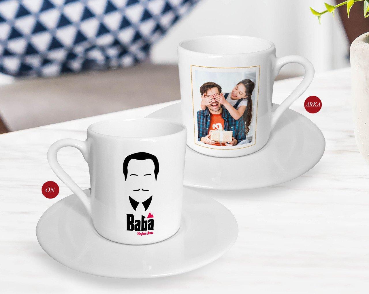 شخصية هدية عيد الآباء صورة القهوة التركية Fincanı-15