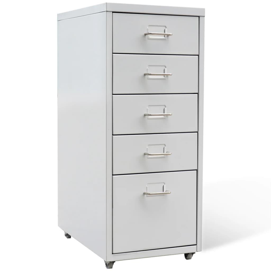 Металлические офисные шкафы для хранения файлов для дома и офиса с 5 ящиками, серые, 27 дюймов, из стали шкафы витрины стеклянные для офиса