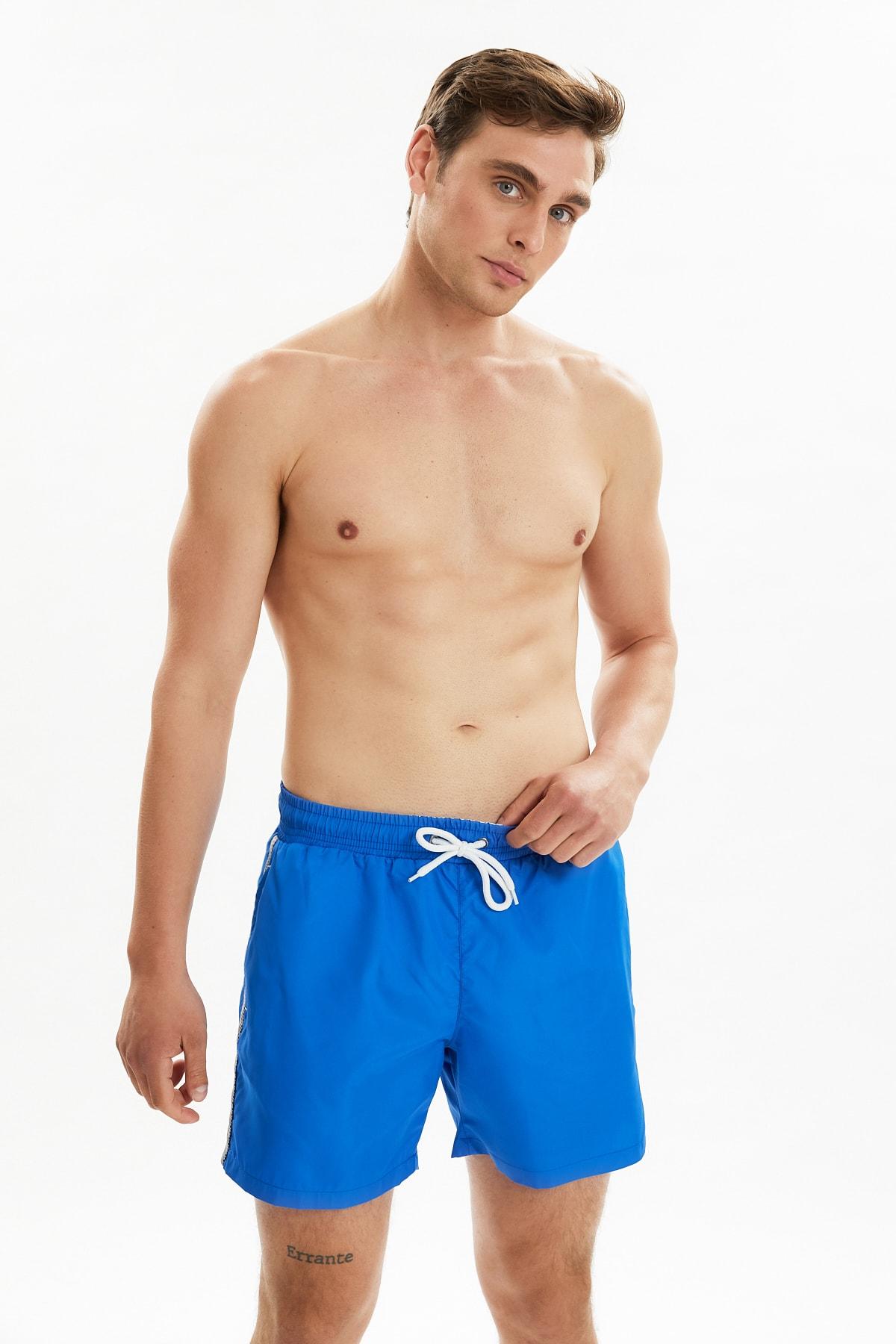 Trendyol Male Stripe Zipper Pockets Sea Shorts TMNSS21DS0040