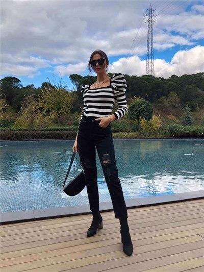pants galvanni pants Black Yırtıklı Mom Jean Pants Women Pants Ladies Pants New Season Pants Style Pants Style Pants