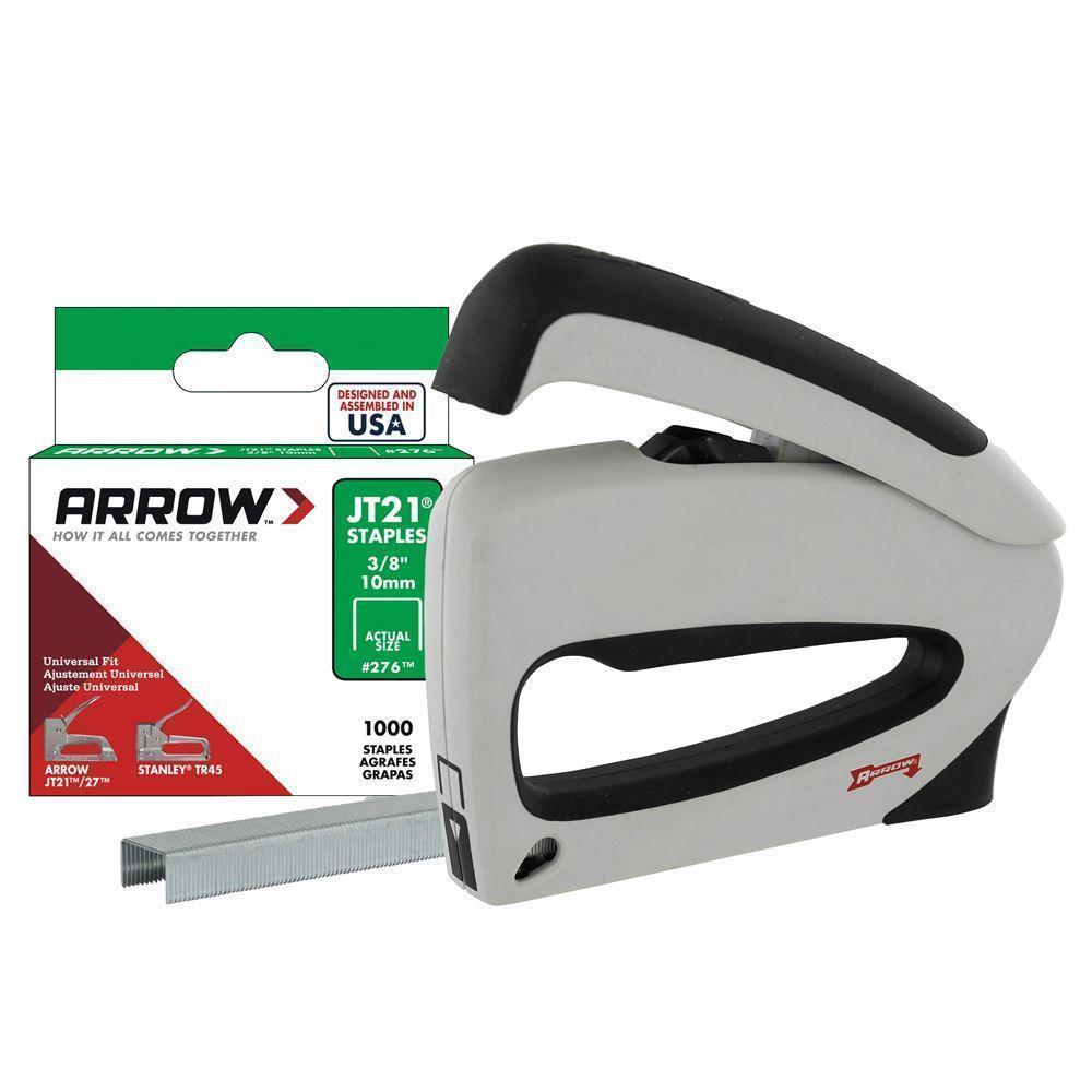 Arrow TT21 6-10mm Mechanical Stapler Gun + 1000 Pcs Staples