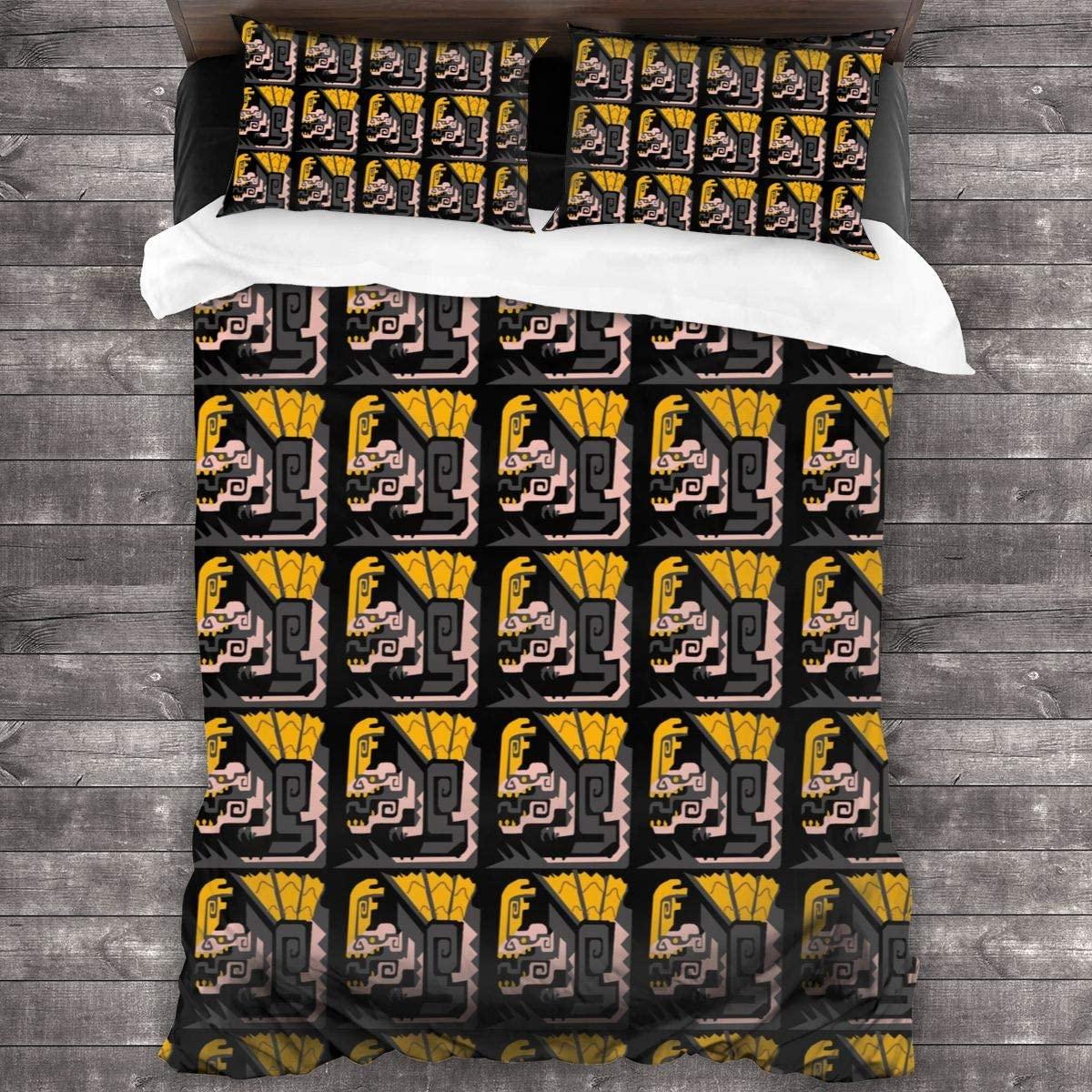 3Pcs Bedding Printing Particular Monster Hunter World Duvet Cover Set Soft(No Comforter),1 Duvet Cover + 2 Pillow Shams