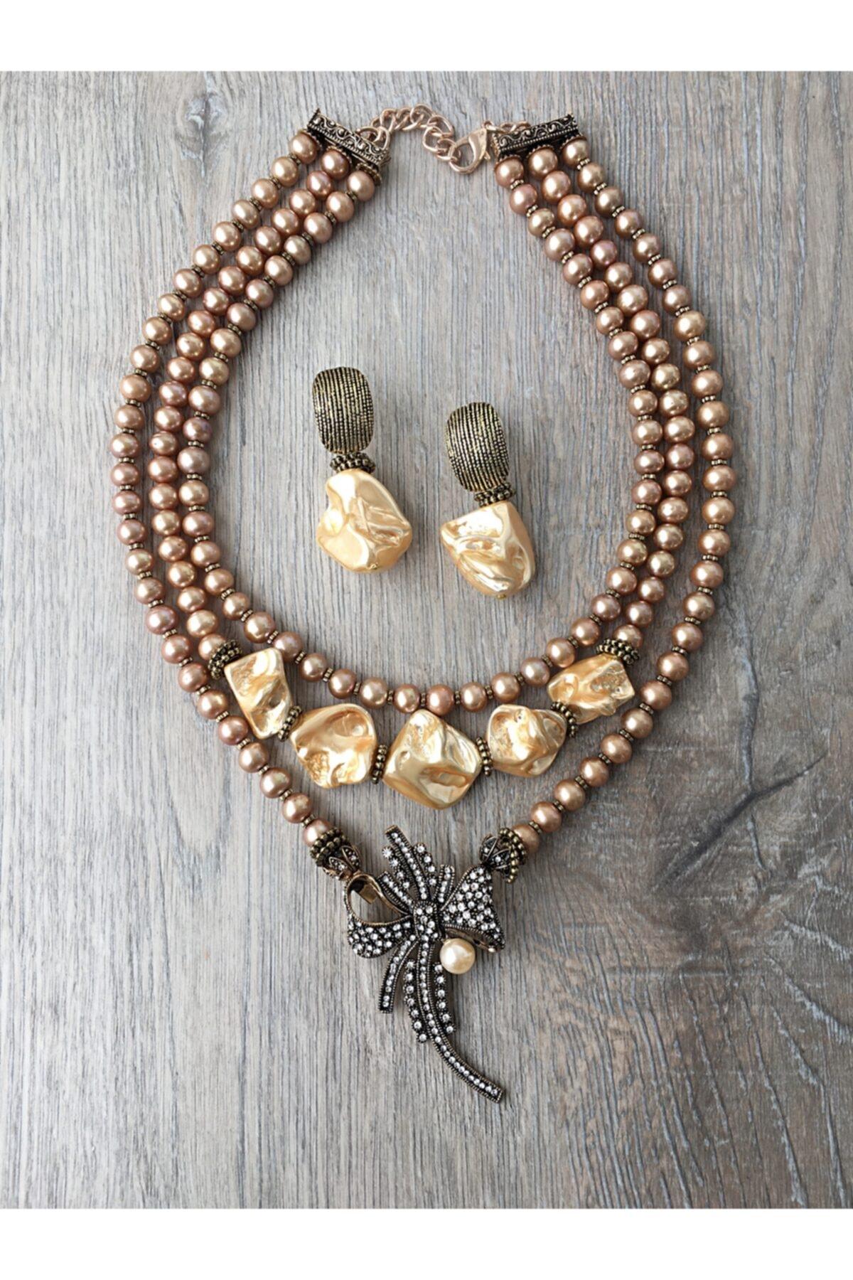 مجوهرات الأزياء النسائية قلادة الذهب لؤلؤة تصميم katrem