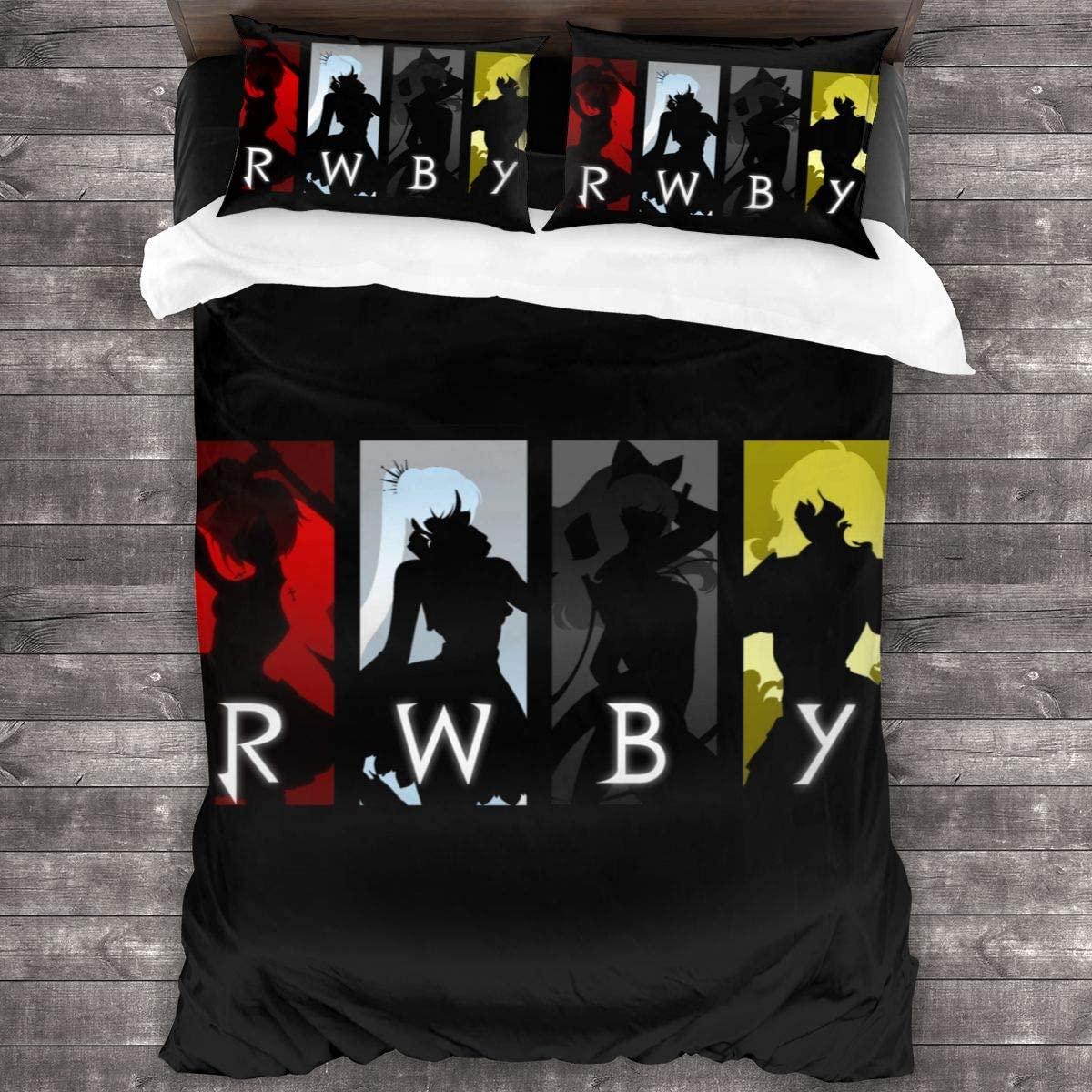 3 قطعة طباعة الفراش RWBY حاف مجموعة غطاء لينة (لا المعزي) طقم سرير (1 حاف الغطاء 2 وسادة شمس)