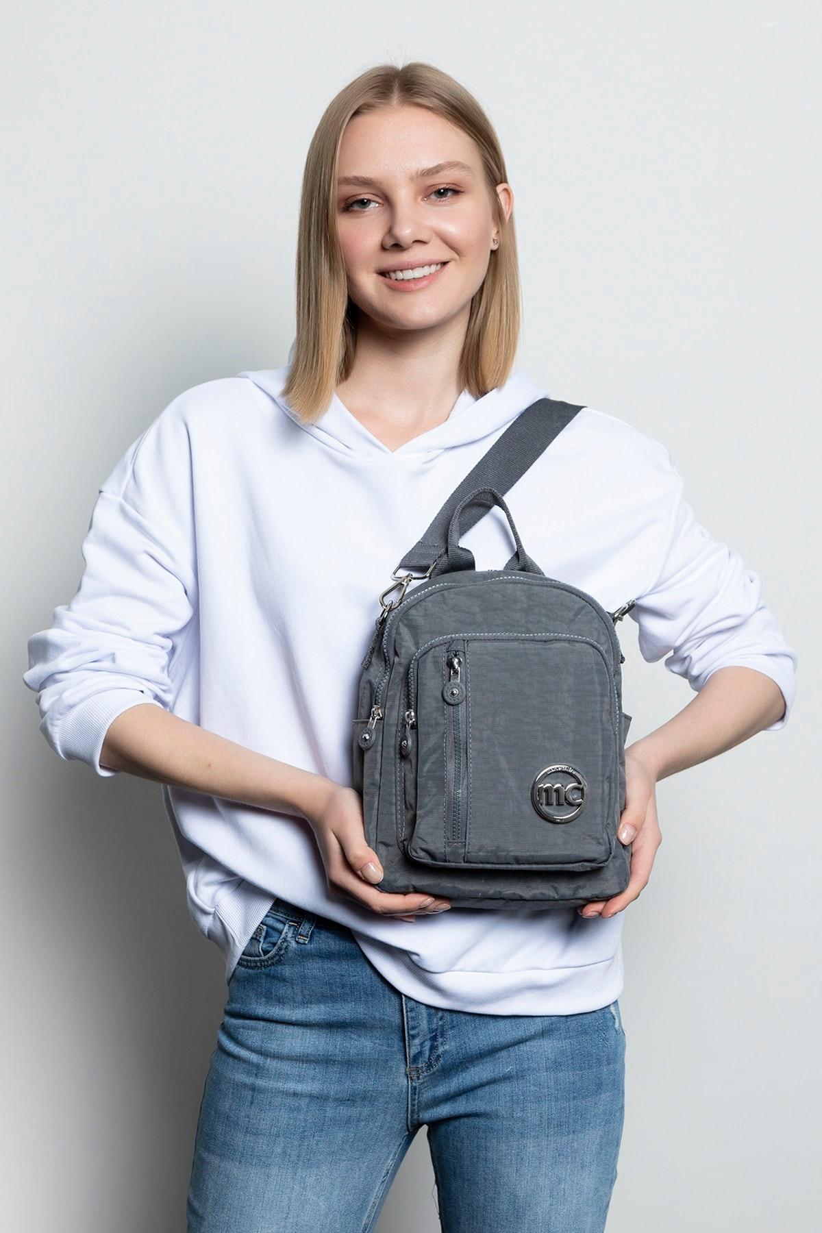 Серый женский рюкзак, женская сумка Rilla, женская сумка, рюкзак, женская сумка, женская сумка, женская кожаная сумка для покупок