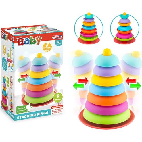 Детская развивающая игрушка, кольца-качалки, образовательная игра