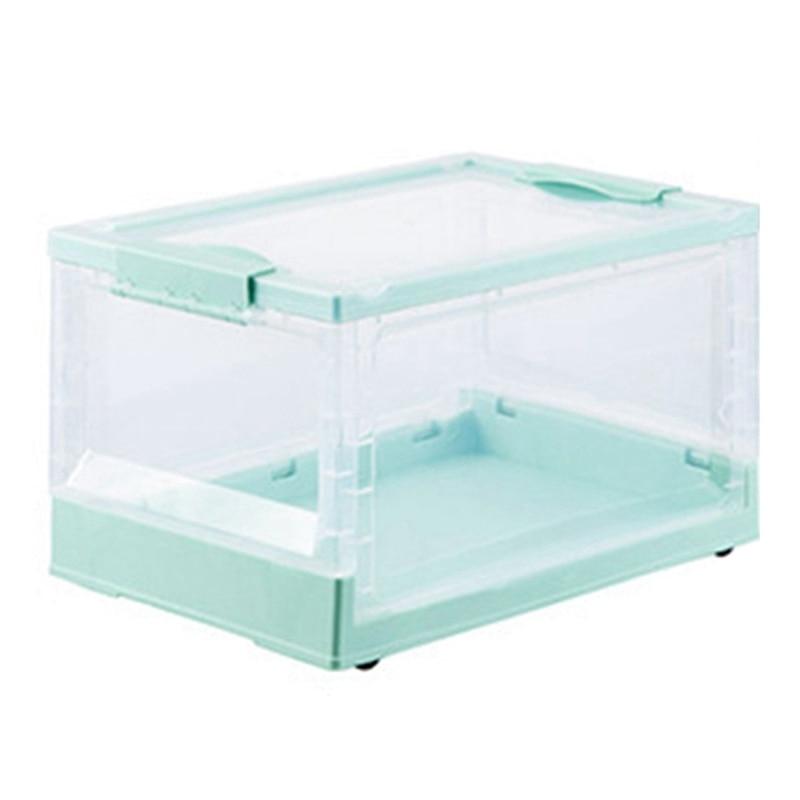 طوي كتاب صندوق تخزين البلاستيك المنزلية صندوق تخزين شفاف طالب كتاب تنظيم خزانة الكتب التخزين ، G