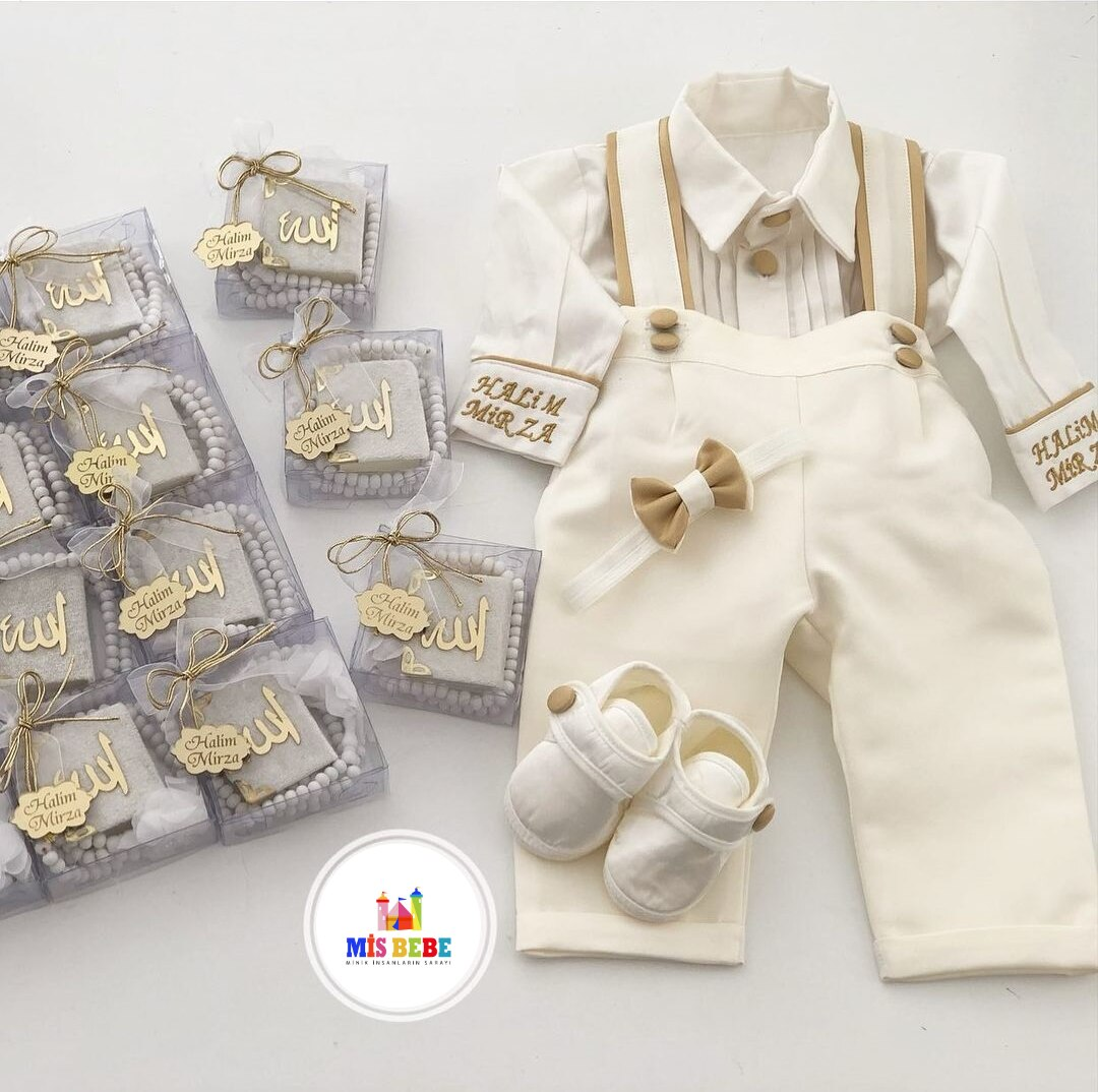 4-Pcs set baby boy clothing personalized outfit custom baby clothes winter spring