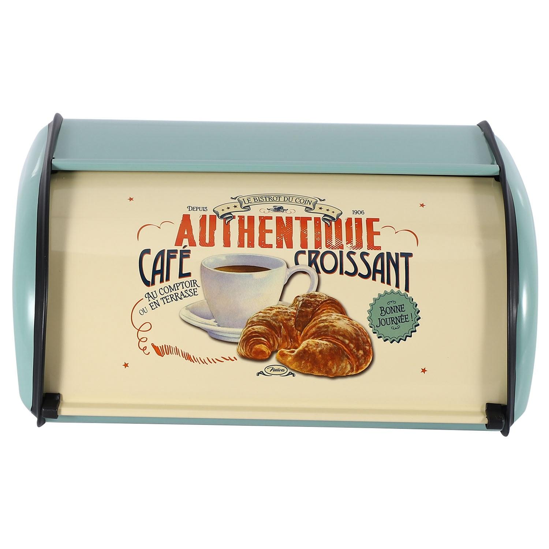 الرجعية العملي الحديد هيكل الزخرفية صندوق الخبز خفيفة الوزن وجبة خفيفة تخزين نشمر أعلى المطبخ الصدأ برهان المنزل