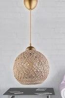 Nordique A Tricoter Suspensions Luminaires Vintage Or Moderne LED Lampe Suspendue pour Salon Maison Loft Industriel Decor Luminaire