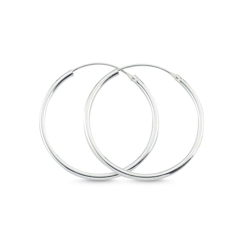 الفضة 925 الاسترليني 25 مللي متر خاتم بسيط أقراط