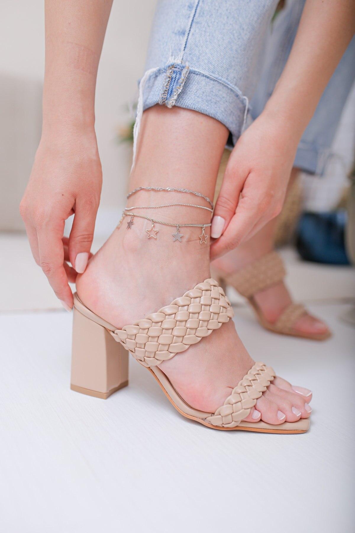 النساء الصنادل المنك الحياكة الإناث الكعوب الصيف داخلي في الهواء الطلق الوجه يتخبط الشاطئ حذاء الإناث النعال منصة عادية