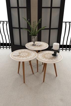 Тройной современные журнальные столики-матрешки стол с рисунком журнальный столик мебель для дома Гостиная мебель Овальный кофейный кругл...