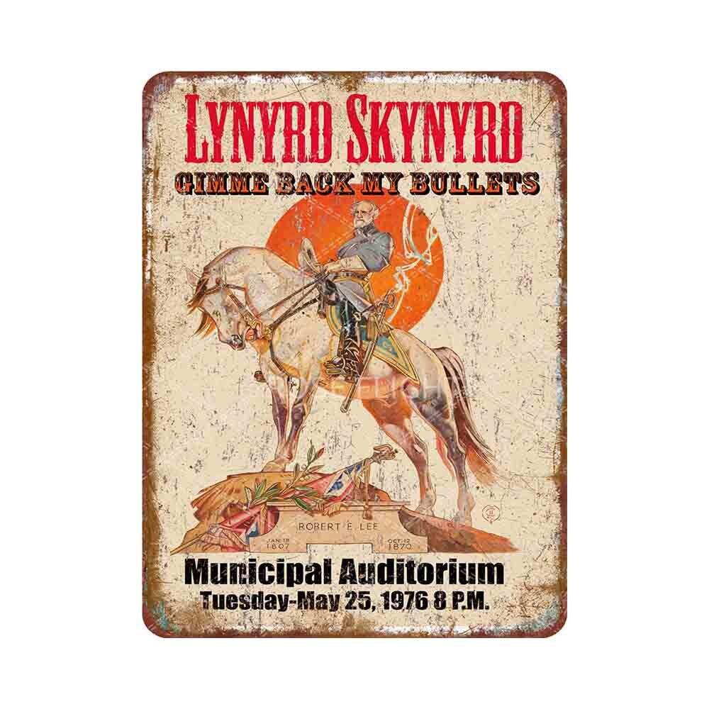 Lynyrd Skynyrd-Póster de estilo retro para decoración del hogar, cartel de hojalata...