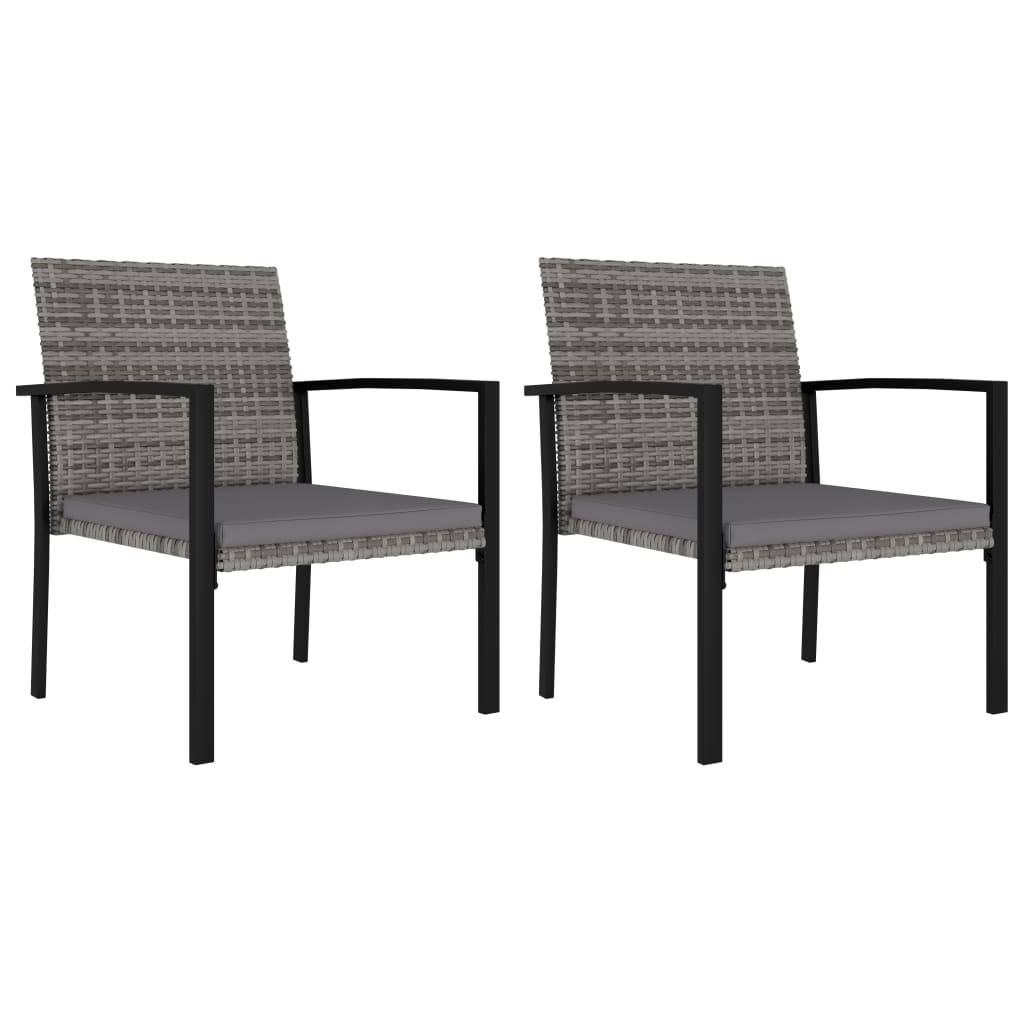 Уличные обеденные стулья для патио, подставка для крыльца, комплект мебели для улицы, декор для сада, гостиной, 2 шт., серый