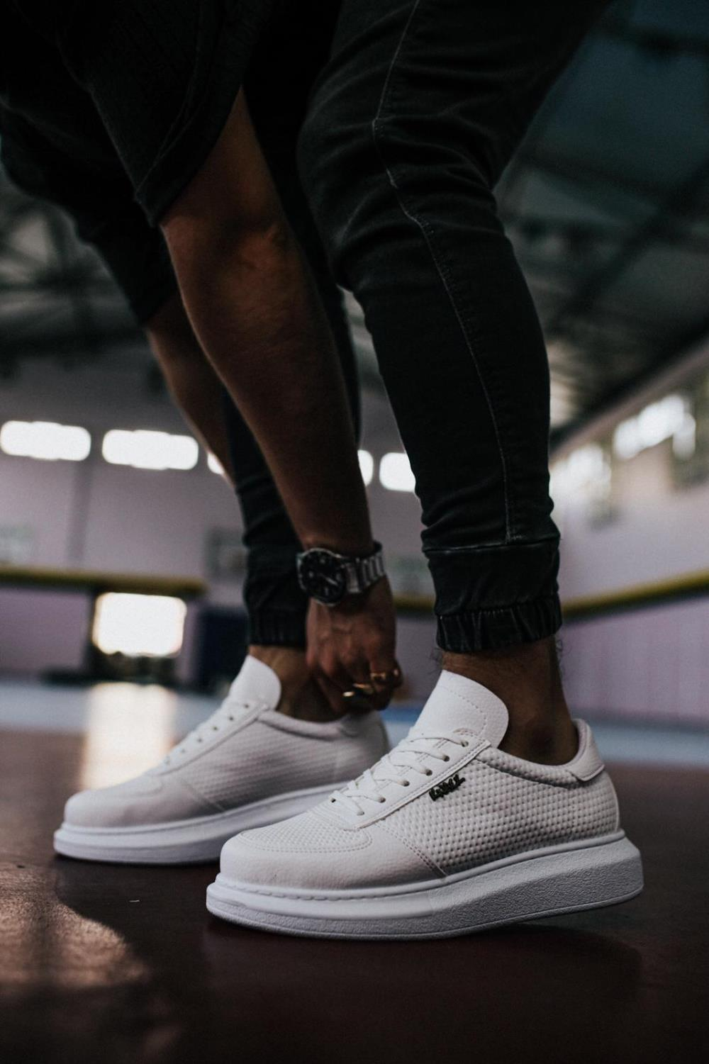 Knack Men's Casual Shoes White Color Summer High Sole Non Leather Flashy Quality Hiking Sneakers mens shoes casual men sneakers barefoot shoes casual shoes man shoes luxury shoes safety shoes anime shoes sneaker 042