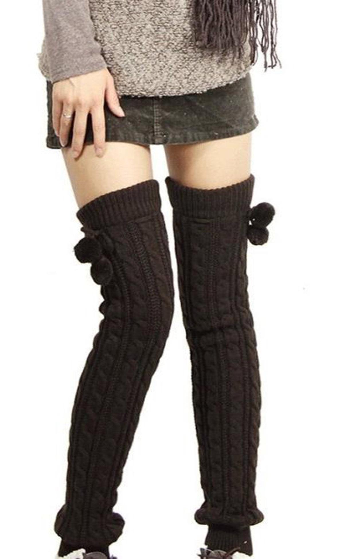 Подкладки, сапоги, высокие чулки, зимние вязаные чулки, гетры без ног, чулки до бедра, Лидер продаж