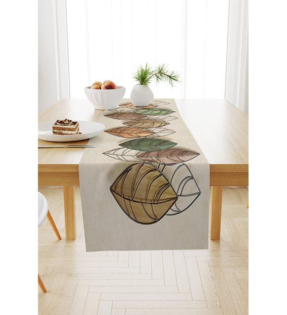 أوراق الخريف تصميم حصري الجدول الحديثة الرقمية المطبوعة عداء
