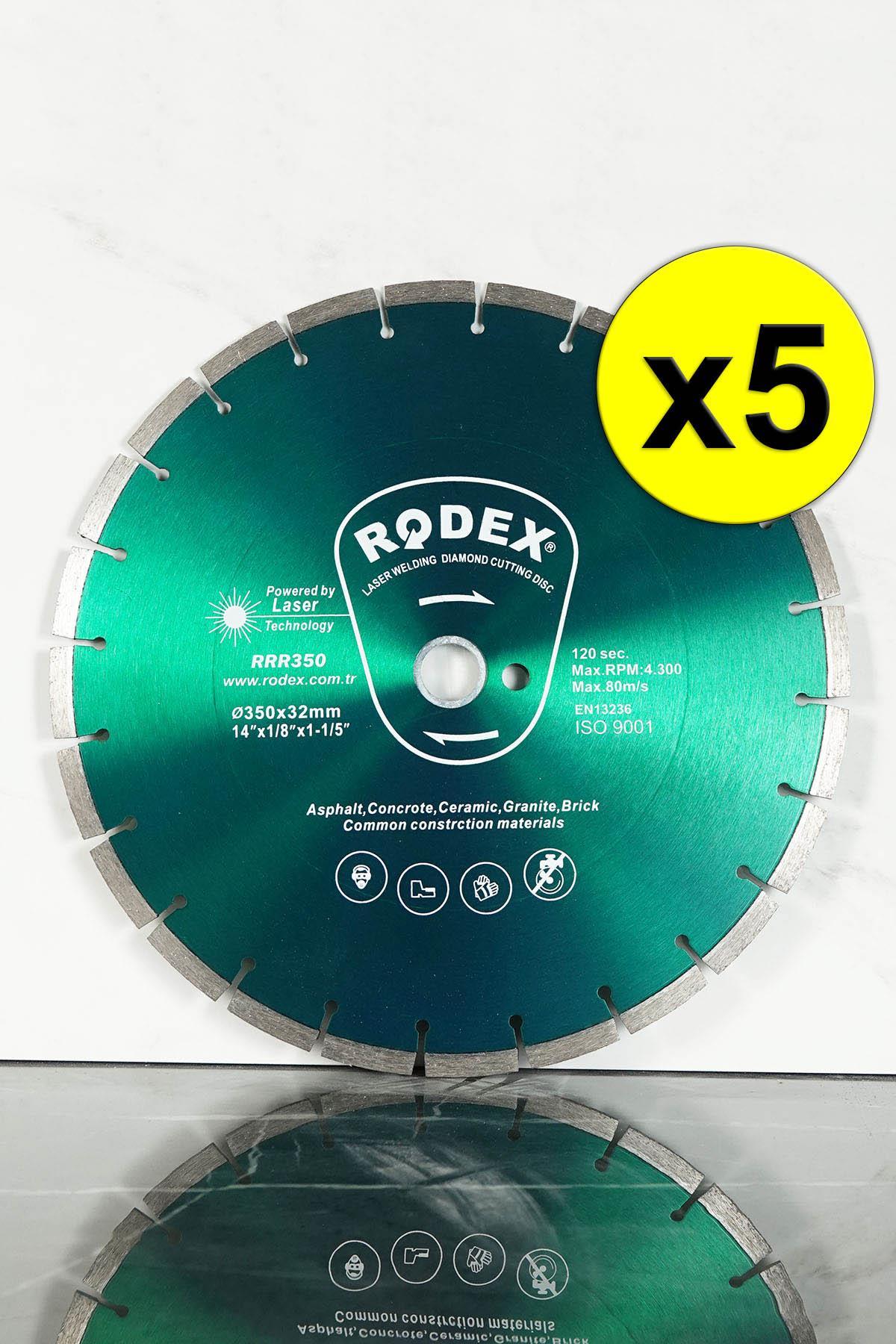 Rodex RRR350 Laser Diamond Cutting Disc Asphalt, Concrete 350mm 5 Pcs