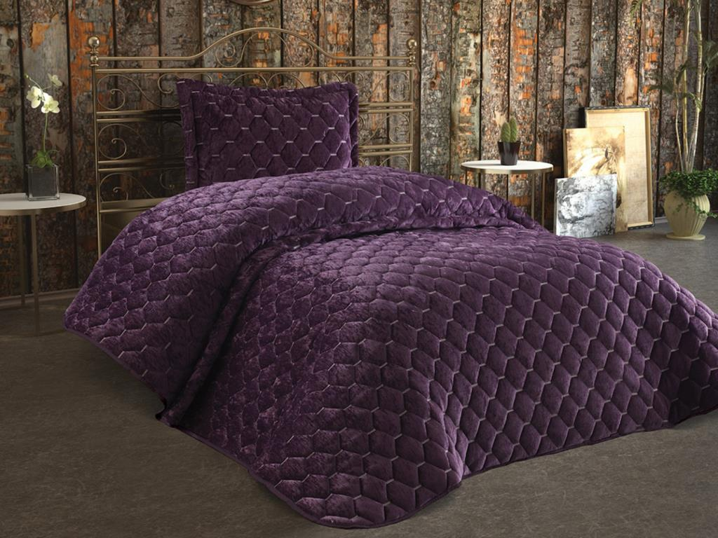 Lima-غطاء سرير مخملي ، مفرد ، دامسون