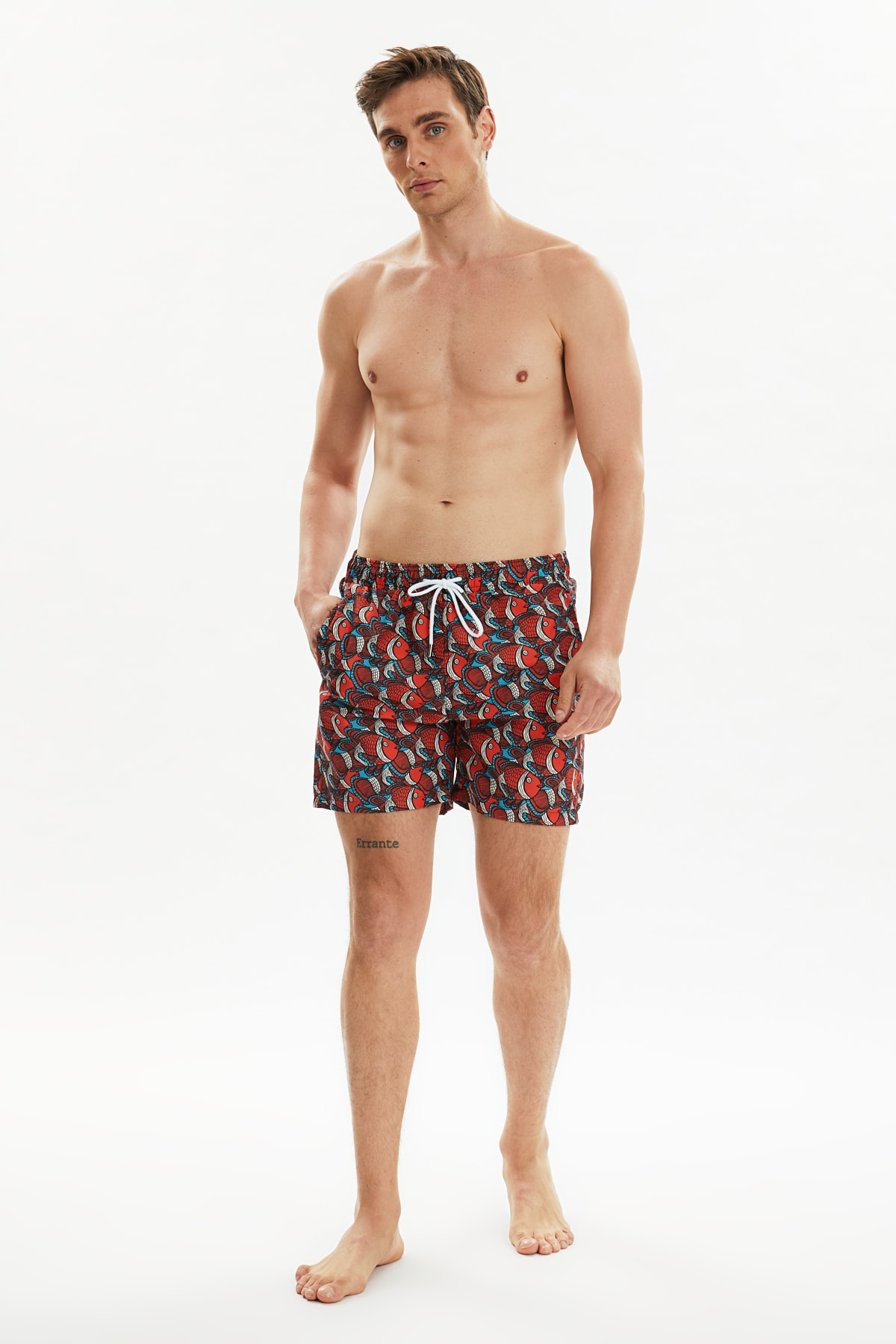 Trendyol Male Fish Pattern Sea Shorts TMNSS20DS0006