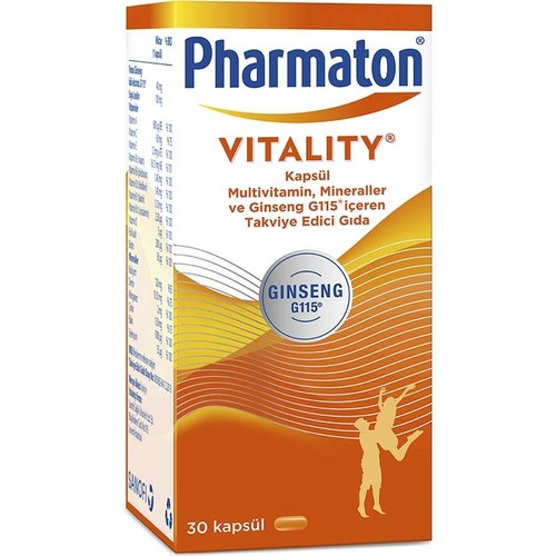 Pharmaton Capsule Multivitamin Mineral Ginseng G115 Vitamin A,B,C,D,E + Folic Acid + Calcium, Iron Magnesium Zinc Copper