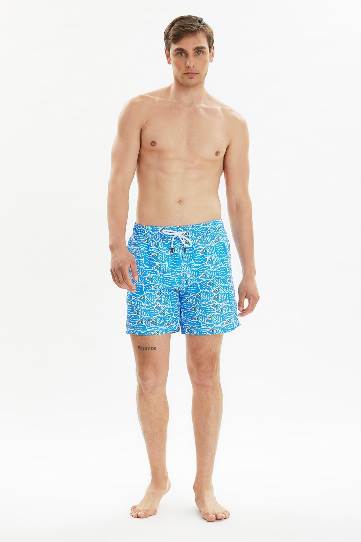Trendyol Male Pattern Sea Shorts TMNSS20DS0004