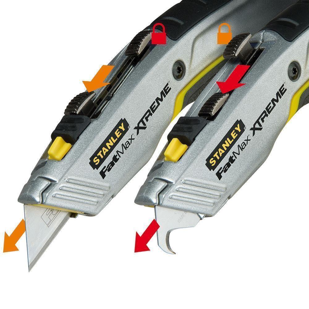 STANLEY st010789 utility knife, standard and 1 hook knife, safety lock safety lock