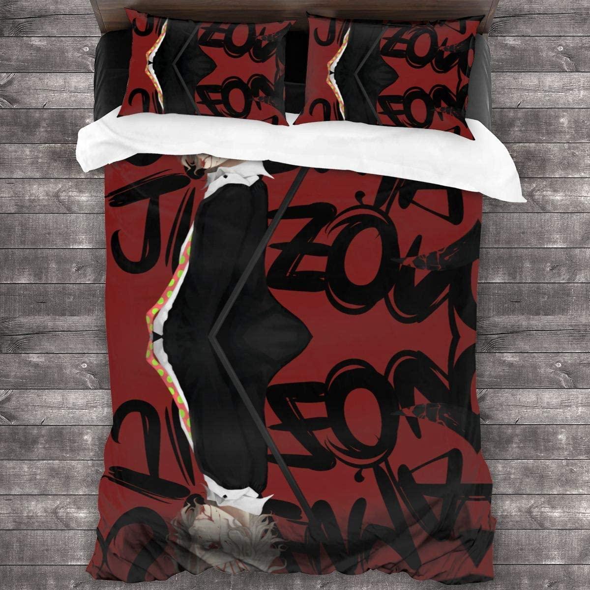 طوكيو الغول جوزو سوزويا 3 قطعة الفراش الطباعة حاف مجموعة غطاء لينة (لا المعزي) ، التوأم ل في سن المراهقة طفل الكبار هدية طقم سرير