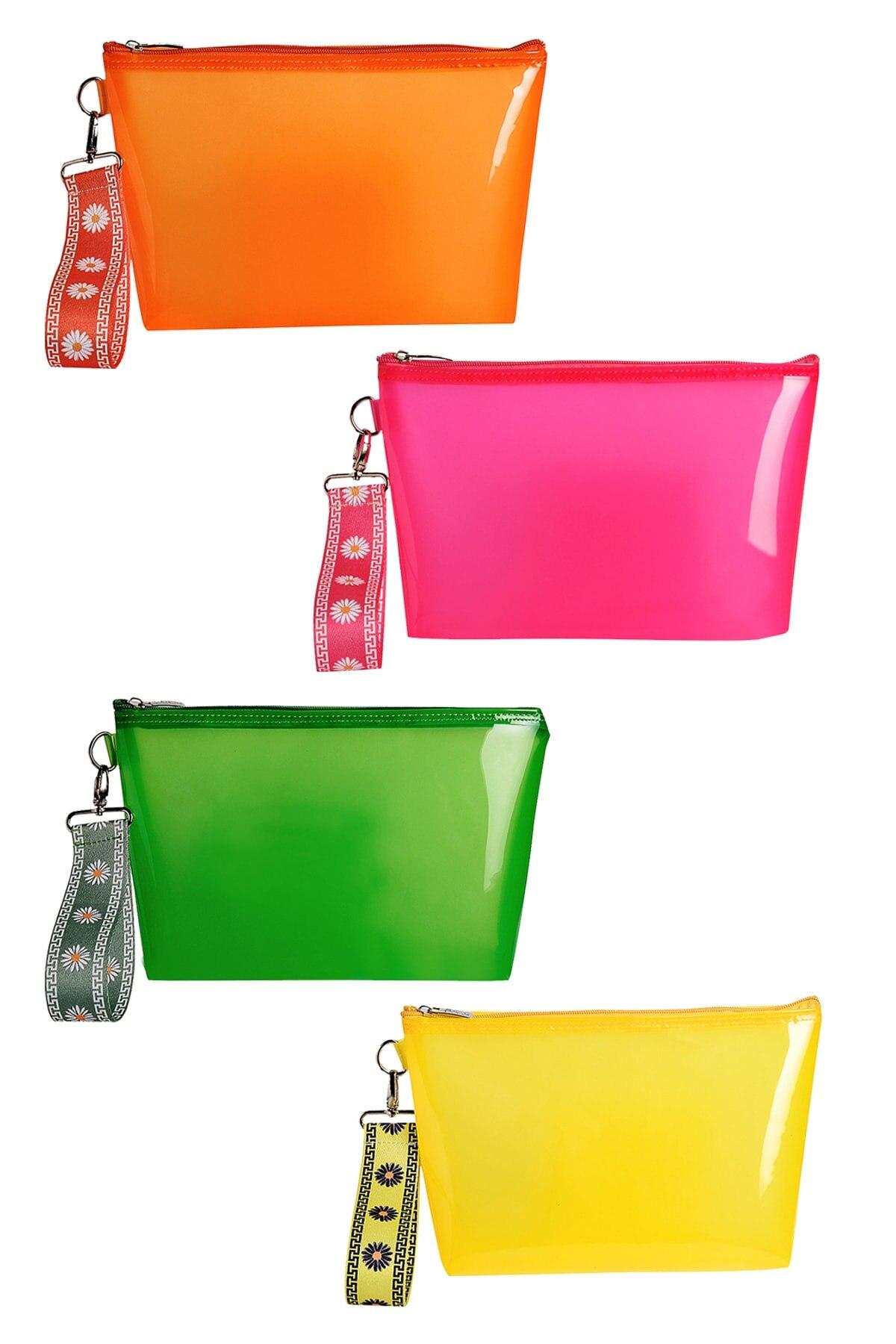 Водонепроницаемый полупрозрачный Органайзер с рисунком маргариток, пляжная сумка 2021, летняя мода, Красочный розовый, оранжевый, зеленый, же...