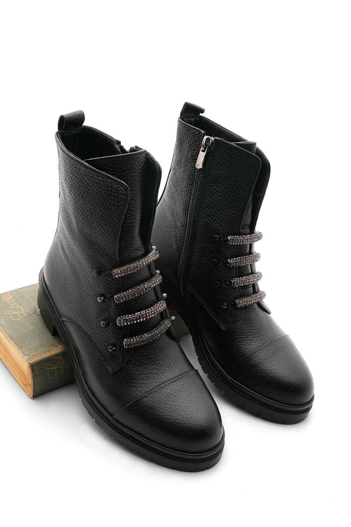 Women's boots Flat Bottom Genuine Leather Women Boots