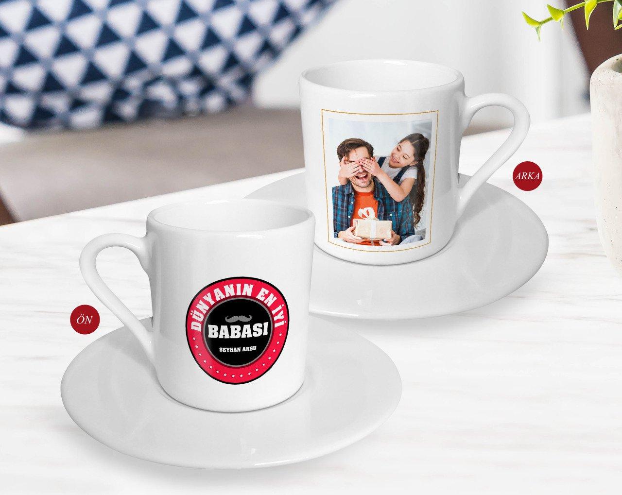 شخصية هدية عيد الآباء صورة القهوة التركية Fincanı-51