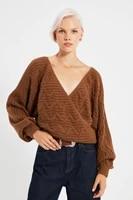 trendyol waist detail knitwear sweater twoaw22kz0478
