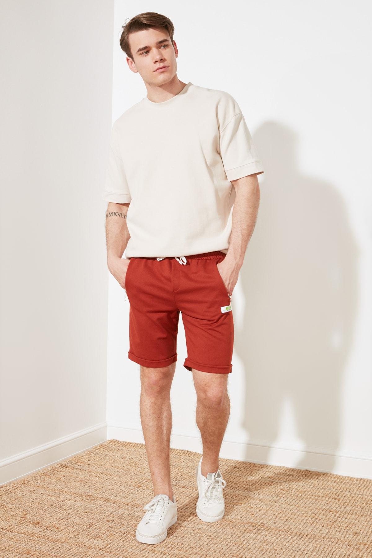 Trendyol Men 'S Regular Fit Shorts & Bermuda TMNSS21SR0260
