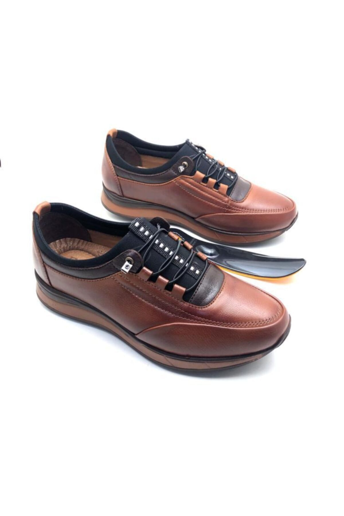 Mens Brown Genuine Leather Full Orthopedic Shoes