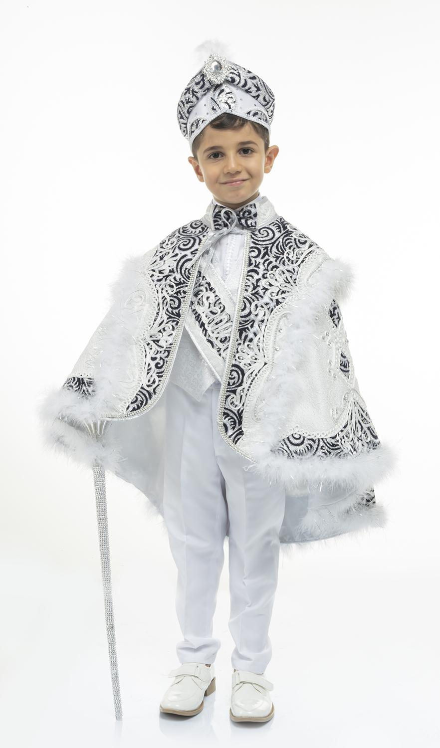 Pasha Prince Cape Sunnet Clothes Kid Circumcision Dress Costume 1-14 Age Birthday and Party Event Child Special Gift Tradition