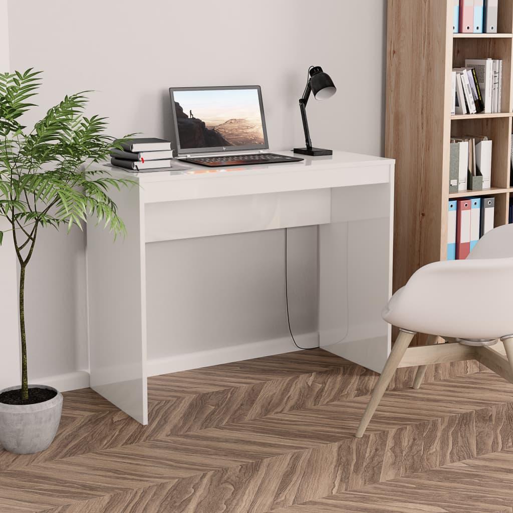 Office white glossy 90x40x72 cm chipboard недорого