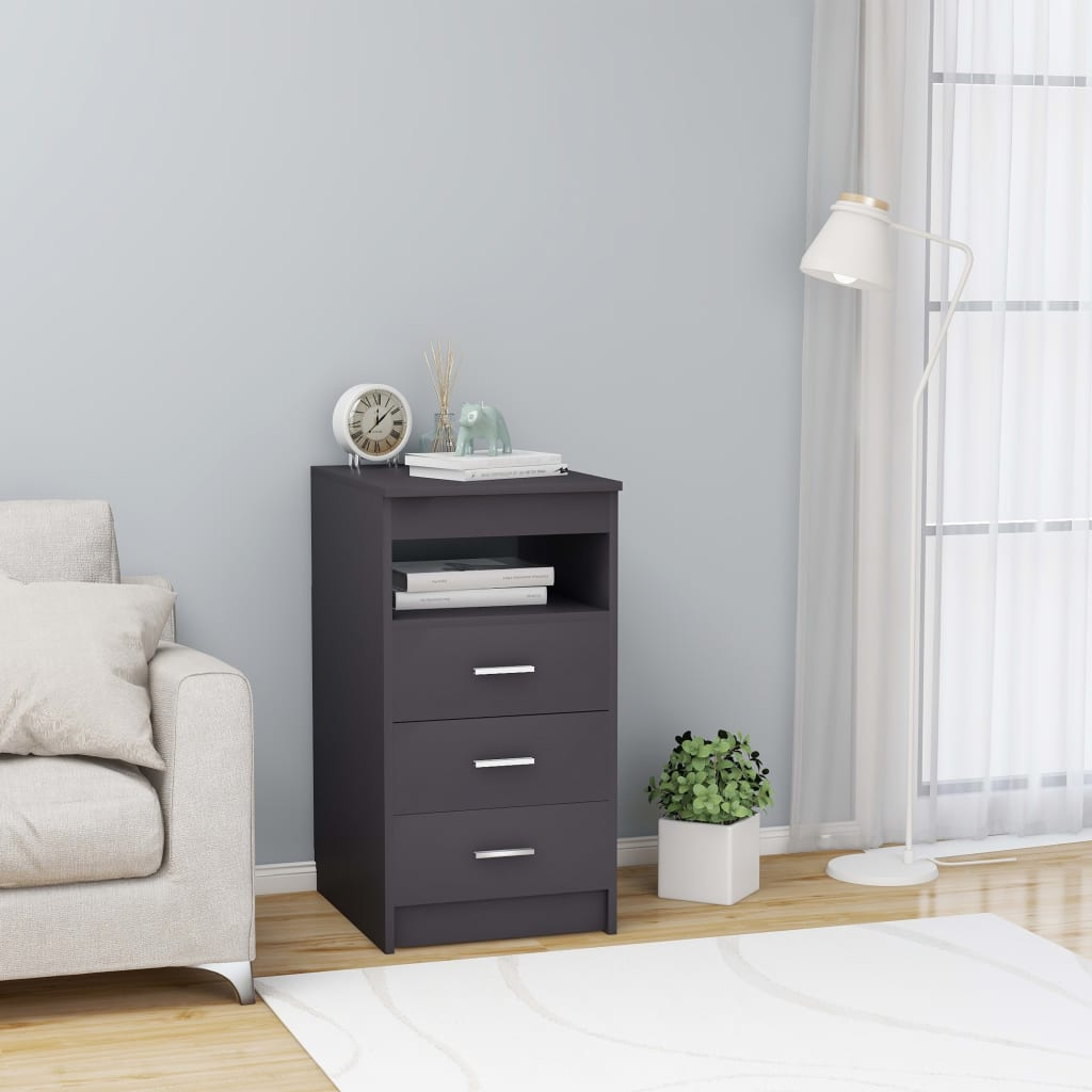 Filing Cabinets Office Drawer Cabinet Gray 15.7