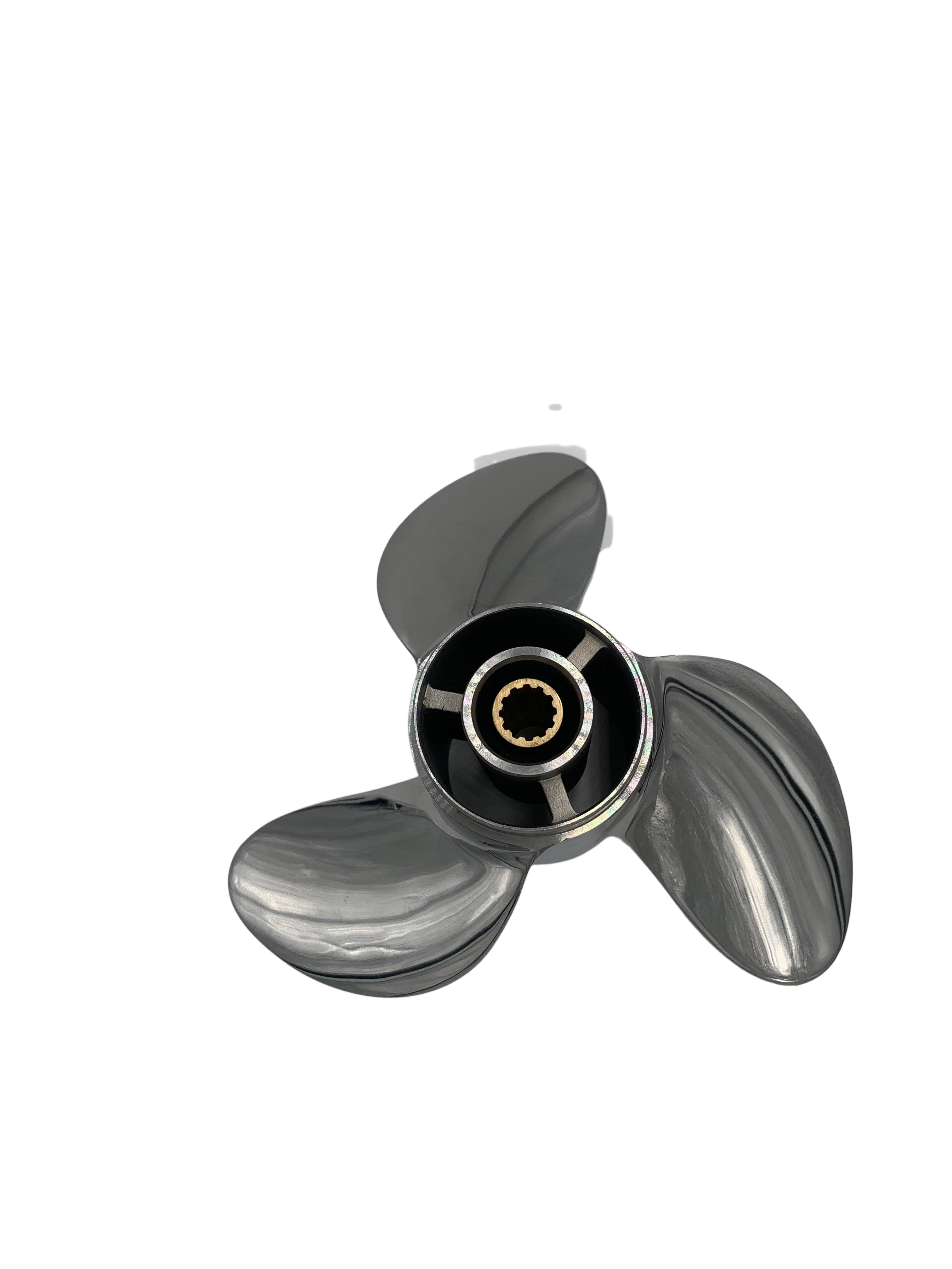 Boat Propeller 7.8x8 for Tohatsu 5HP-6HP 3 Blades Stainless Steel Prop SS 12 Tooth RH OEM NO: 3R1B64514-2 7.8x8 enlarge