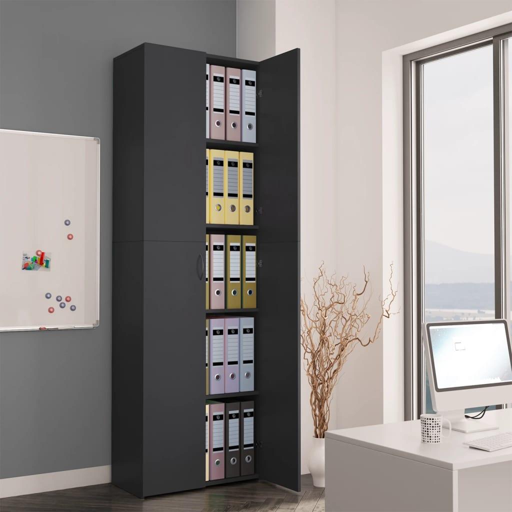Высокие настенные офисные шкафы для хранения документов, для дома и офиса, серый, 23,6x12,6x74,8 дюйма, ДСП шкафы витрины стеклянные для офиса