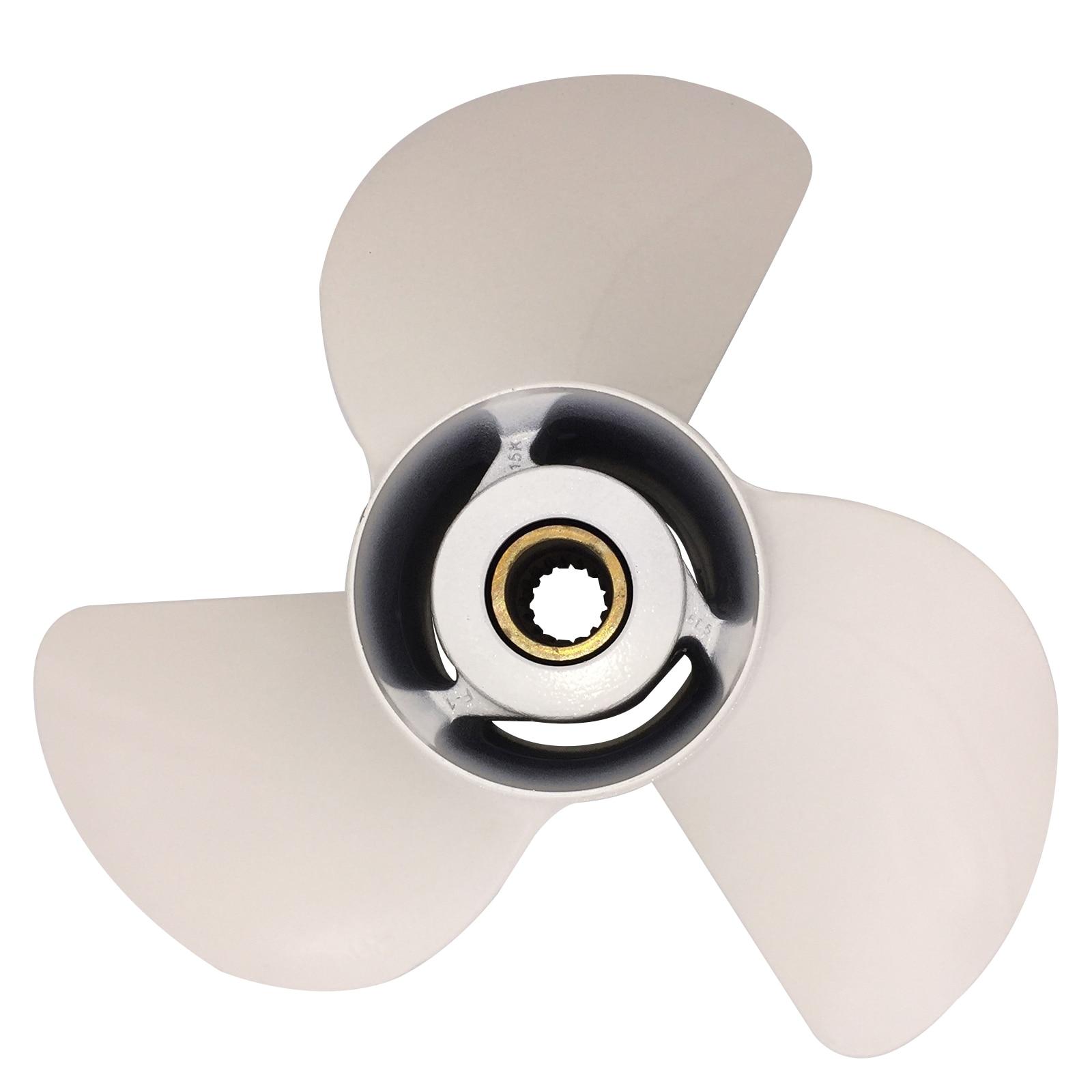 Boat Propeller 13 1/2x17 for Yamaha 60HP-115HP 3 Blades Aluminum Prop 15 Tooth RH OEM NO: 68V-45941-00-00 13.5x17 enlarge