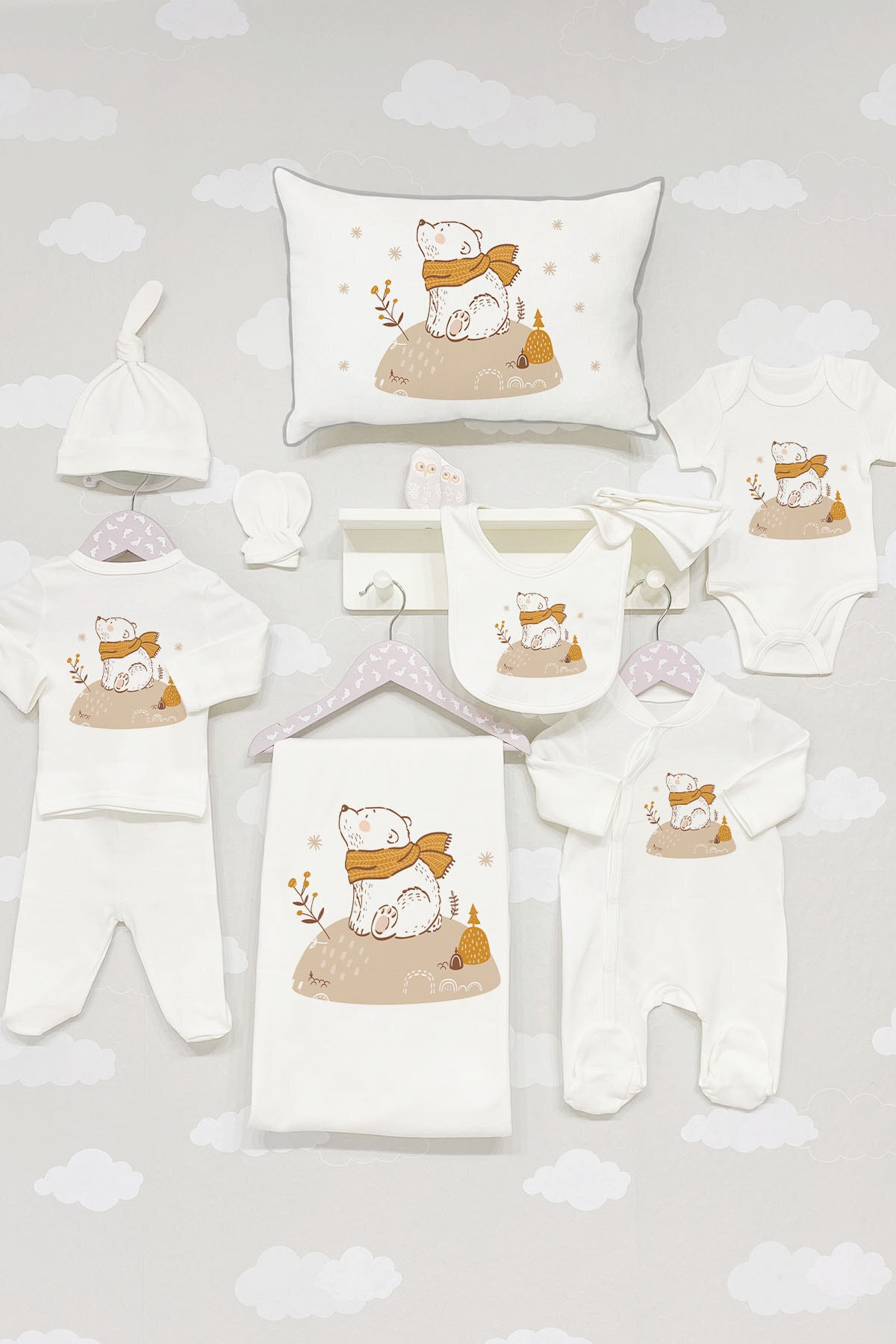 Cotton Organic Baby Newborn Personalized Outfit Clothing 11pcs Hospital Custom Fabric Antibacterial Babies Healthy Safe