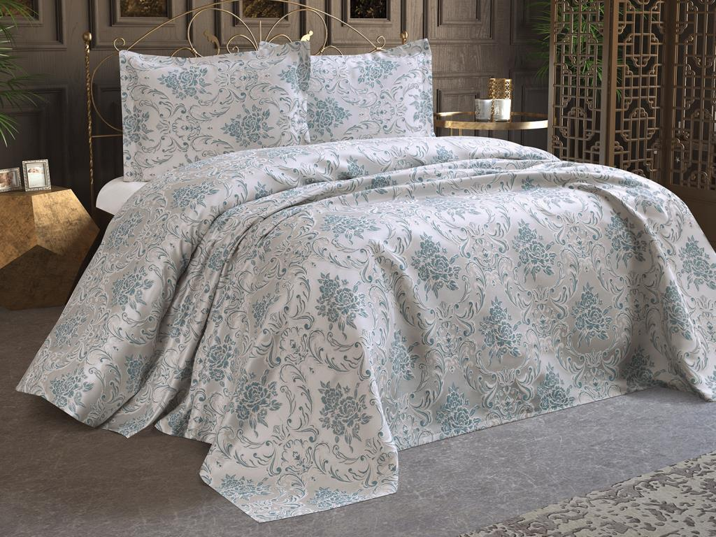 لحاف سرير سامارا ، أخضر