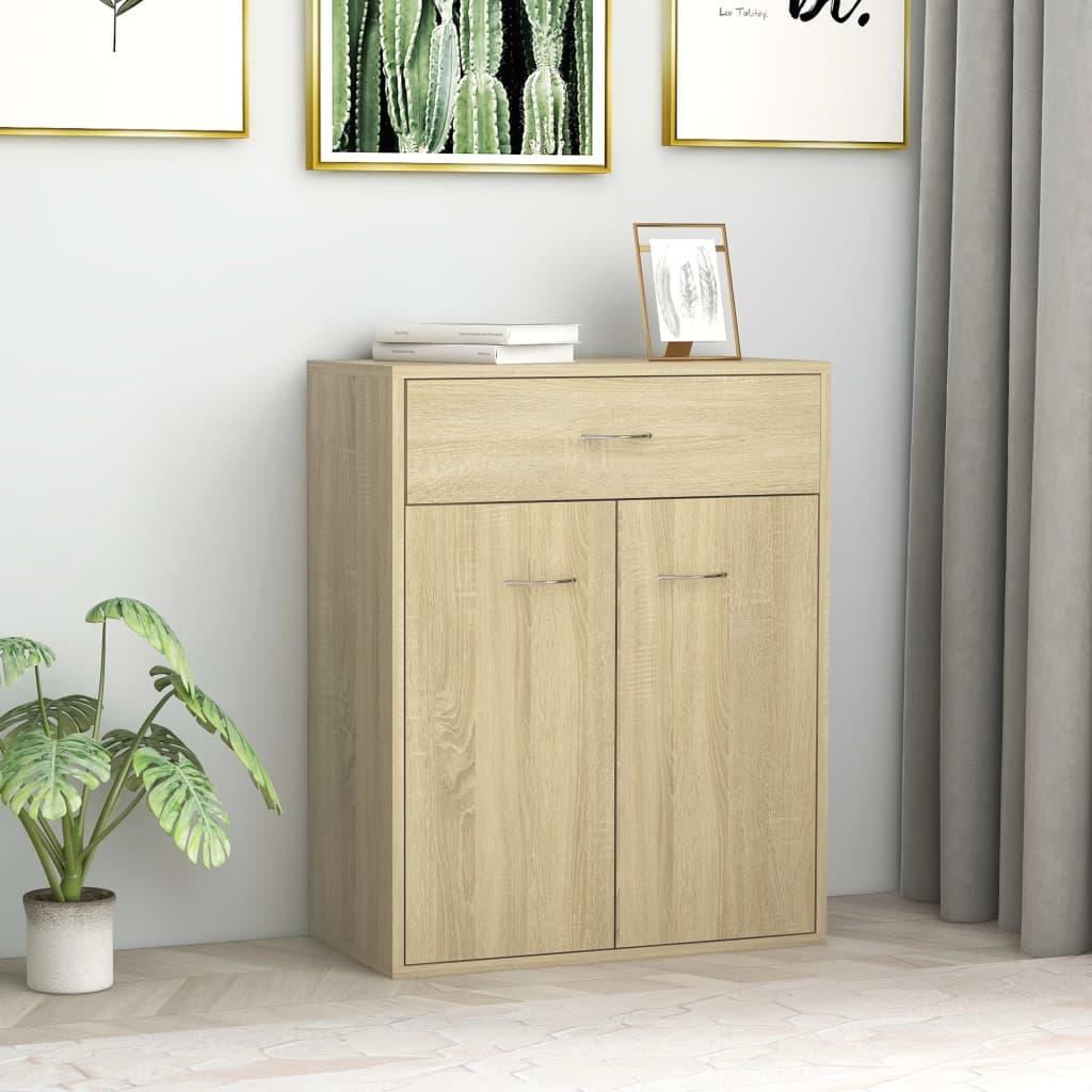 خزانة جانبية وبوفيهات مع تخزين ديكور منزلي سونوما البلوط 23.6