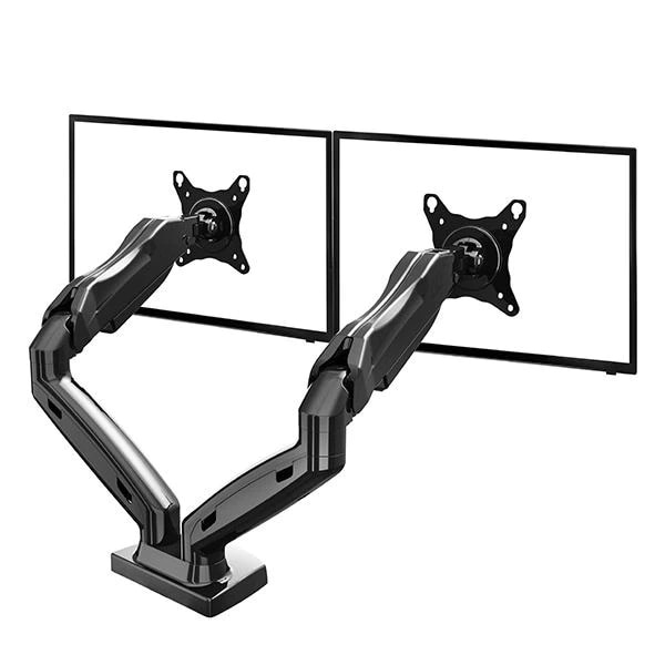 TriLine NB F160 Dual Arm Gas Powered Table dual monitor Holder holder monitor arm with shock absorber