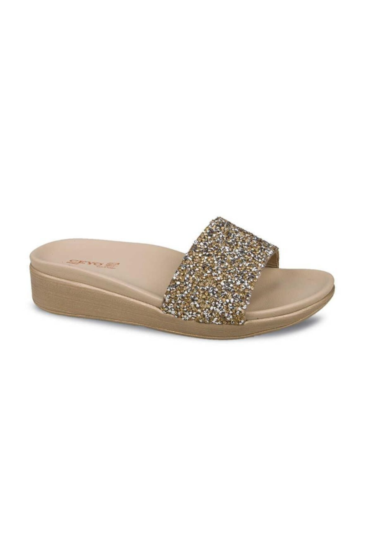 Casual Light Comfortable Stylish Orthobetic Gold Color Silvery Women's Slippers Sandal Shoes